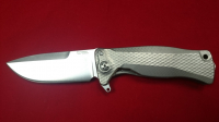 Нож складной SR-11 Ball-Bearing Flipper, Gray Solid® Titanium Handle, Satin Finish Sleipner Stainless Steel