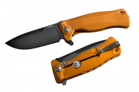 Нож складной SR-11 Ball-Bearing Flipper, Orange Solid® Aluminum Handle, Satin Finish Sleipner Stainless Steel
